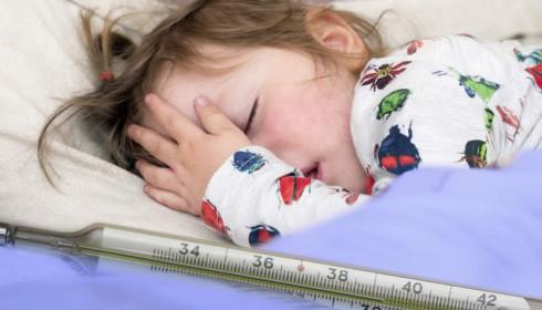 Kinder leiden häufig an Fieber.